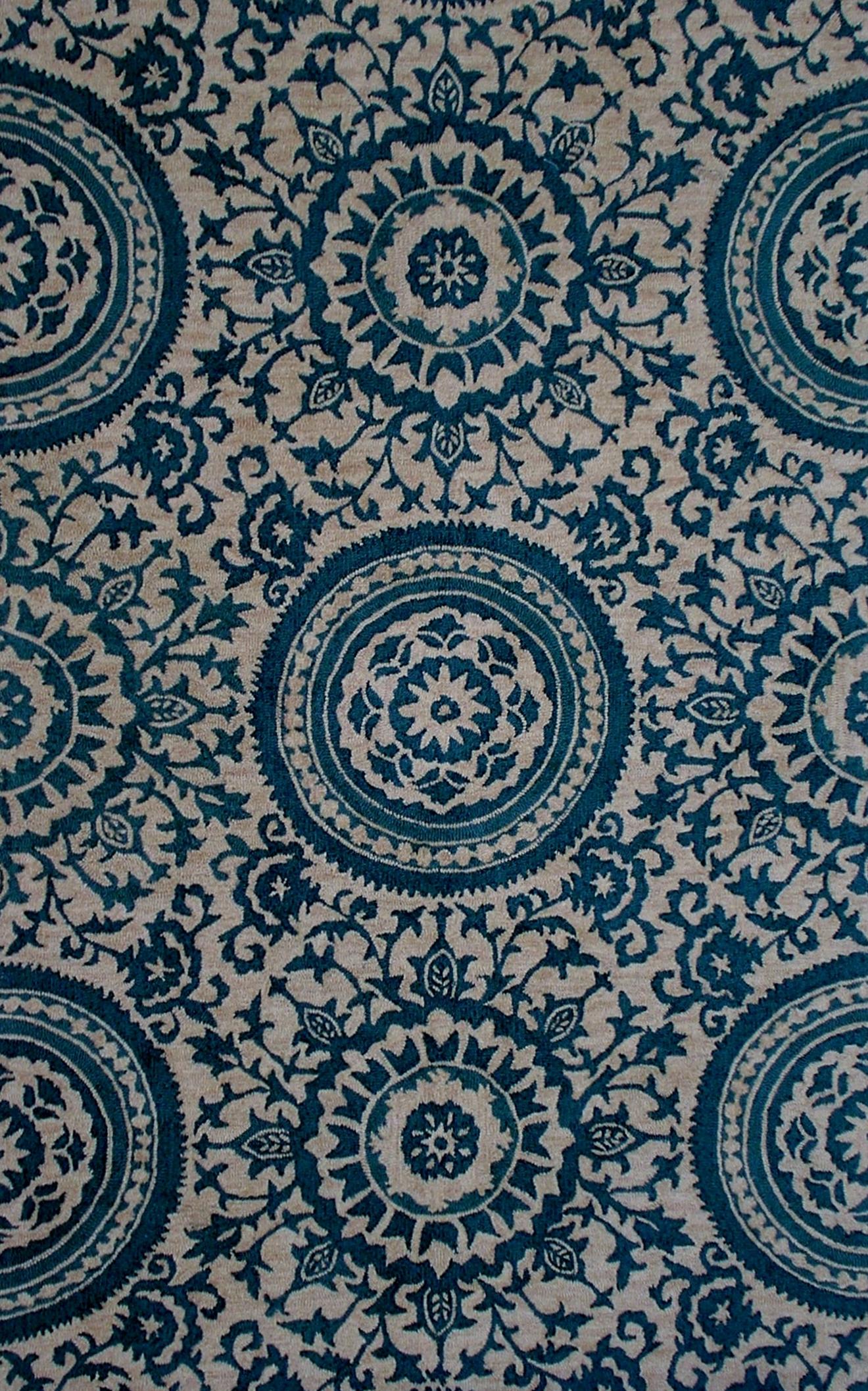 Damask Hand Tufted Carpet